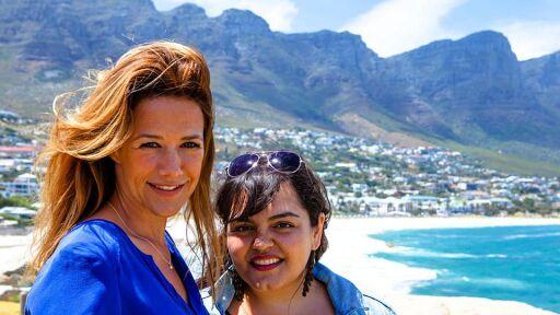 Einfach Rosa - Wolken über Kapstadt
